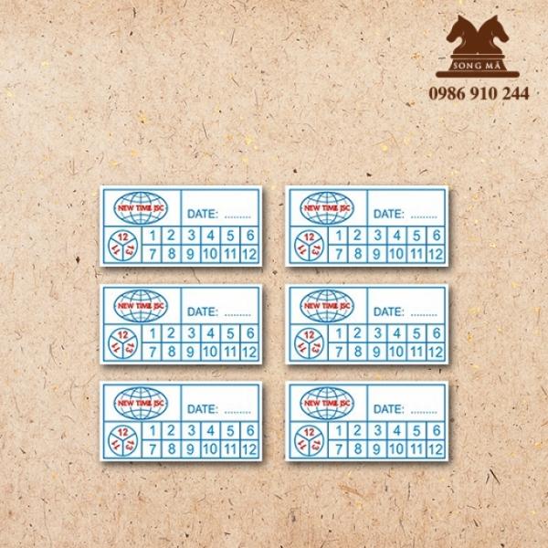Mẫu tem bảo hành TBH20