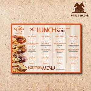 Mẫu thực đơn menu ME01