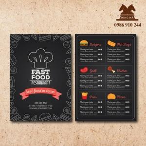 Mẫu thực đơn menu ME02