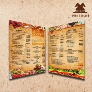 Mẫu thực đơn menu ME07