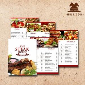 Mẫu thực đơn menu ME09