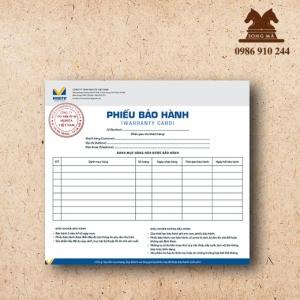 Mẫu phiếu bảo hành PBH07